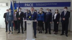 Conferință de presă organizată de Partidul Acasă Construim Europa dedicată anunțării deciziei CNP privind poziția partidului aferent susținerii unuia dintre candidați la alegerile prezidențiale și alte decizii importante adoptate în cadrul Consiliului Național Politic