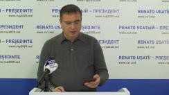 Briefing de presă susținut de candidatul Partidului Nostru la alegerile prezidențiale, Renato Usatîi, despre filajul ilegal și implicarea conducerii MAI în fraudarea alegerilor, dar și despre alte subiecte importante