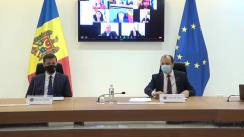 """Conferință de presă susținută de Ministrul Afacerilor Externe și Integrării Europene din Republica Moldova, Oleg Țulea, și președintele Comisiei Electorale Centrale, Dorin Cimil, cu tema """"Alegerile prezidențiale – votul în străinătate"""""""