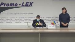 Briefing susținut de Misiunea de Observare Promo-LEX a Alegerilor pentru funcția de Președinte al Republicii Moldova din 1 noiembrie 2020.  Constatările observatorilor Promo-LEX privind desfășurarea scrutinului până la ora 14:00