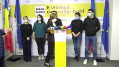 Briefing de presă susținut de Maia Sandu după închiderea secțiilor de votare