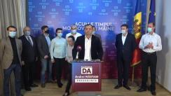 Briefing de presă susținut de Andrei Năstase după închiderea secțiilor de votare