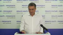 Briefing de presă susținut de Renato Usatîi după închiderea secțiilor de votare