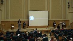 Conferință de presă susținută de Ministrul Educației și Cercetării, Monica Cristina Anisie, secretarul de stat pentru învățământ preuniversitar, Luminița Barcari, secretarul de stat pentru proiecte cu finanțare externă, Mihaela Popa, președintele ARACIP, Șerban Iosifescu