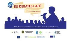 """EU Debates Cafe organizat de Institutul pentru Politici și Reforme Europene cu tema """"Promovarea mobilității verzi: automobilele electrice în Republica Moldova"""""""