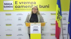 """Briefing de presă susținut de deputata PAS, Galina Sajin, cu tema """"Propuneri privind organizarea votării în afara țării pentru turul II al alegerilor prezidențiale"""""""