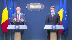 Briefing de presă susținut de șeful Cancelariei prim-ministrului, Ionel Dancă, și secretarul de stat în Ministerul Afacerilor Interne, Raed Arafat