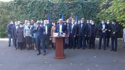 Briefing de presă susținut de Președintele Partidului Democrat din Moldova, Pavel Filip, după ședința comună a Biroului Executiv al PDM și președinților Organizațiilor Teritoriale ale PDM