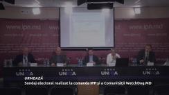 """Conferința de presă organizată de Comunitatea """"WatchDog.MD și Institutul de Politici Publice cu tema """"Sondaj electoral realizat la comanda IPP și a Comunității WatchDog.MD"""""""