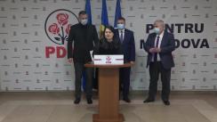 Briefing de presă susținut de miniștrii desemnați de Partidul Democrat din Moldova în Guvern