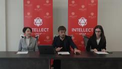 """Conferință de presă organizată Compania """"Intellect Group"""" în colaborare cu Asociația SPERO privind organizarea sondajului exit-poll în ziua alegerilor"""