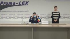 Conferință de presă organizată de Asociația Promo-LEX privind lansarea Raportului nr. 7 al Misiunii de observare a alegerilor pentru funcția de Președinte al Republicii Moldova din 1 noiembrie (15 noiembrie) 2020