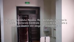 Liderul Partidului Nostru, Renato Usatîi, depune la Comisia Electorală Centrală cererea de excludere a lui Igor Dodon din alegerile prezidențiale