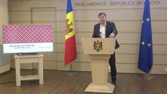 """Briefing susținut de către deputatul Parlamentului Republicii Moldova din partea fracțiunii PSRM, Bogdan Țîrdea, cu tema """"Finanțarea Maiei Sandu de catre ONGuri"""""""