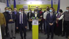 Briefing de presă susținut de candidatul Partidului Acțiune și Solidaritate la funcția de președinte, Maia Sandu