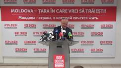 Briefing de presă susținut de candidatul independent, Igor Dodon, după închiderea secțiilor de votare