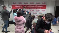 Declarațiile lui Dorin Chirtoacă de la sediul Partidului Socialiștilor din Republica Moldova