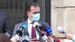 Declarații de presă susținute de Prim-ministrul României, Ludovic Orban, la sediul Ministerului Sănătății