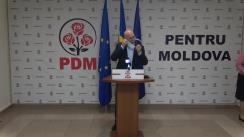 Briefing de presă susținut de președintele PDM, Pavel Filip, după anunțarea rezultatelor preliminare ale alegerilor prezidențiale