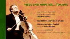 Concert de muzică germană cu dirijorul și violoncelistul Cristian Florea