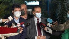 Declarații de presă după vizita de lucru împreună cu primarul general al Municipiului București, Nicușor Dan, și cu prefectul Capitalei, Traian Berbeceanu, pentru evaluarea spitalelor din București