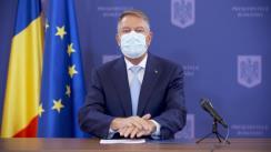 Conferință de presă susținută de Președintele României, Klaus Iohannis