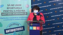 Conferință de presă organizată de Ministerul Sănătății, Muncii și Protecției Sociale, în contextul desfășurării Săptămânii mondiale de conștientizare a rezistenței la antimicrobiene în perioada 18-24 noiembrie