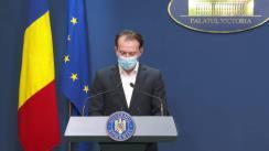 Conferință de presă după Ședința Guvernului României din 18 noiembrie 2020