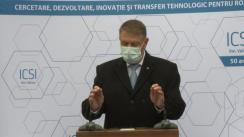 Declarațiile Președintelui României, Klaus Iohannis, după vizita la Institutul Național de Cercetare-Dezvoltare pentru Tehnologii Criogenice și Izotopice din Râmnicu Vâlcea