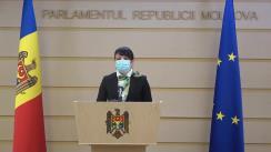 Declarațiile deputatului Fracțiunii Platforma DA, Stela Macari, în timpul ședinței Parlamentului Republicii Moldova din 20 noiembrie 2020