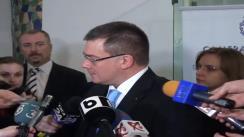 Declarații de presă ale prim-ministrului, Mihai Răzvan Ungureanu, înaintea întâlnirii de la Camera de Comerț și Industrie Iași