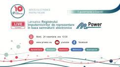 Lansarea Registrului împuternicirilor de reprezentare în baza semnăturii electronice (MPower), eveniment organizat de Agenția de Guvernare Electronică