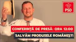 Conferință de presă susținută de candidatul PSD Alba la alegerile pentru Senat, Matieș Călin
