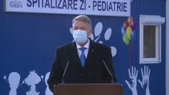 Declarație de presă susținută de Președintele României, Klaus Iohannis, după vizita la Institutul Clinic Fundeni