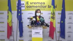 Briefing de presă susținut de Președintele ales al Republicii Moldova, Maia Sandu