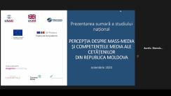 "Forumul Mass-Media 2020. Side event: Prezentarea studiului ""Percepția populației privind mass-media din Republica Moldova"""