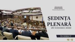 Ședința Parlamentului Republicii Moldova din 26 noiembrie 2020