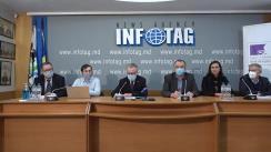 """Conferință de presă organizată de Ambasada Republicii Franceze în Republica Moldova cu tema """"Managementul durabil al deșeurilor în zona cental - estică a țării: un proiect de cooperare descentralizată franco-moldovenească"""""""