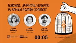"""Webinarul """"Impactul violenței în familie asupra copiilor"""""""