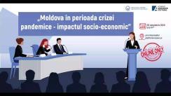 """Evenimentul online organizat de Institutul pentru Inițiative Strategice cu tema """"Moldova în perioada crizei pandemice - impactul socio-economic"""""""
