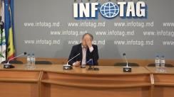 """Conferință de presă organizată de Congresul Autorităților Locale din Moldova și reprezentanții micului business cu tema """"CALM și micul business dezaprobă plafonarea taxelor locale și tensionarea relațiilor dintre APL și mediul de afaceri!"""""""