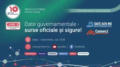 """Eveniment organizat de Agenția de Guvernare Electronică cu tema """"Date guvernamentale – surse oficiale și sigure! Date.gov.md & MConnect"""""""