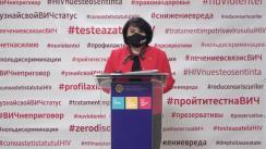 Conferința de presă organizată de Ministerul Sănătății, Muncii și Protecțiie Sociale, A.O. Inițiativa Pozitivă și UNAIDS Moldova în contextul Zilei Mondială de Combatere SIDA