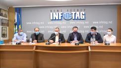 """Conferință de presă organizată de 10 asociații reprezentantive din sectorul agroalimentar din Republica Moldova cu tema """"Producătorii agricoli își exprimă dezacordul vizavi de intențiile Guvernului de majorare a cotei TVA de la 8% la 12%"""""""