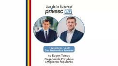 Interviu Live cu Iurie Ciocan și Eugen Tomac, Președintele Partidului Mișcarea Populară