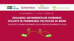 """Evenimentul online organizat de Centrul Analitic Independent """"Expert-Grup"""" cu tema """"Evaluarea instrumentelor economice utilizate în promovarea politicilor de mediu"""""""