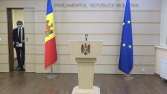 Briefing de presă susținut de Președintele Fracțiunii PAS, Igor Grosu