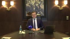 """Briefing de presă susținut de avocatul Igor Popa cu tema """"Acțiunile autorităților municipale care pun în pericol climatul investițional și imaginea Republicii Moldova"""""""