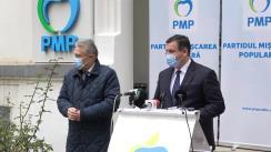 Conferință de presă susținută de președintele PMP, Eugen Tomac, și prim-vicepreședintele PMP, Cristian Diaconescu