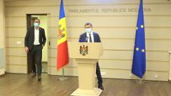 Declarațiile lui Igor Grosu și Sergiu Litvinenco în timpul ședinței Parlamentului Republicii Moldova din 3 decembrie 2020
